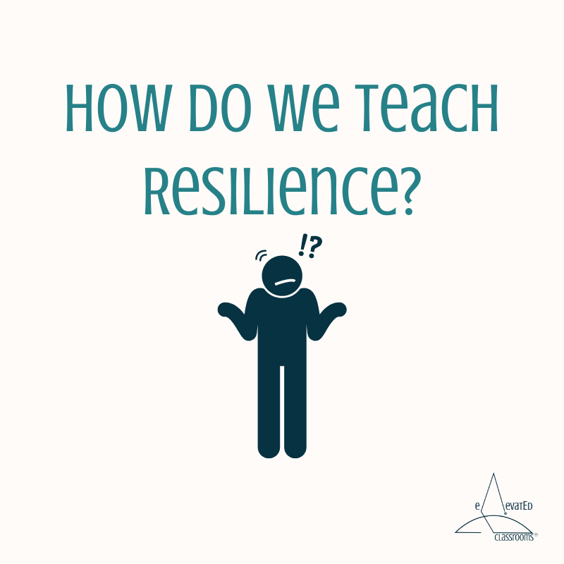 How do we teach resilience? confused person