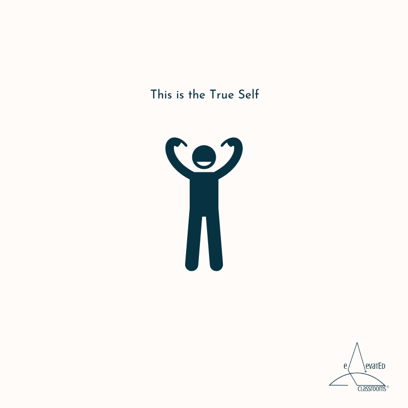 This is the True Self: little stick figure